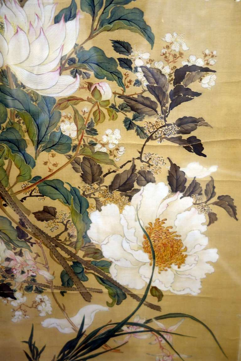 18th Century Pair Of Chinese Paintings On Silk At 1stdibs