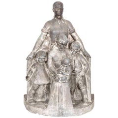Midcentury WPA Sculpture of a Family