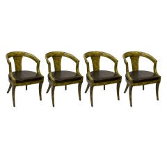 Set of Four Mid Century Kittinger Oil Drop Lacquered Chairs