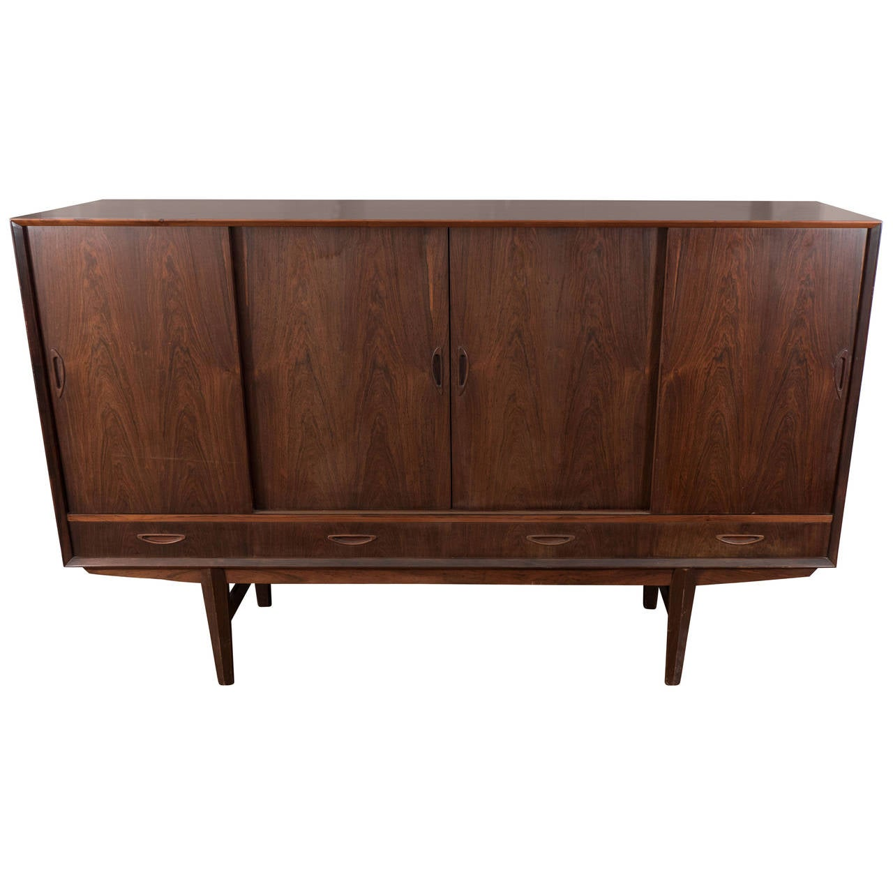 Danish Mid Century Modern Rosewood Credenza And Bar