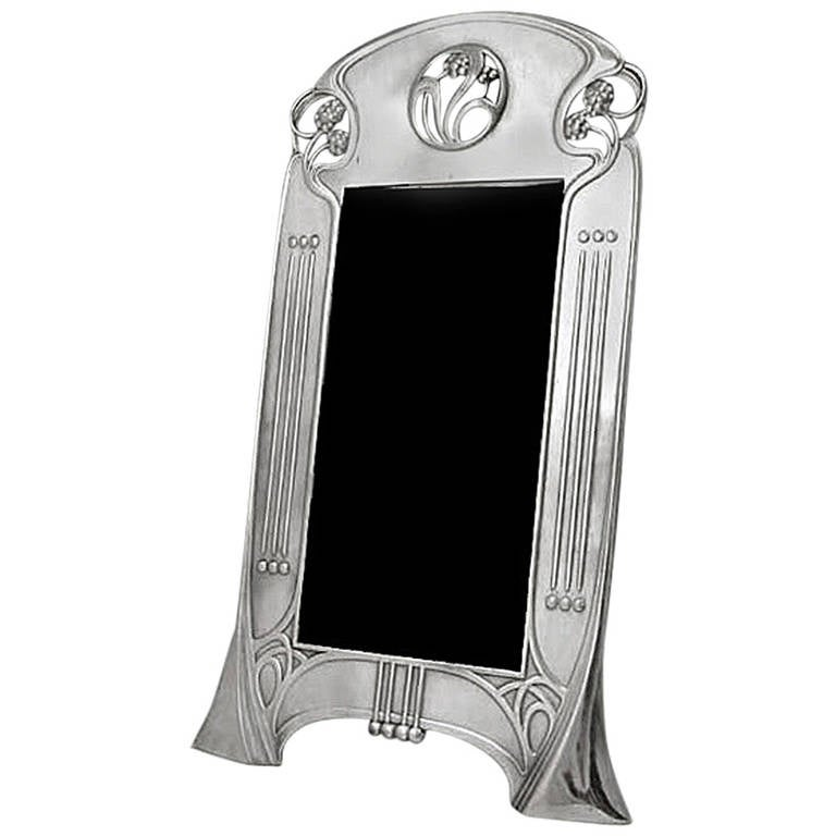 WMF Art Nouveau Jugendstil Secessionist Photograph Frame, Germany, circa 1906 For Sale