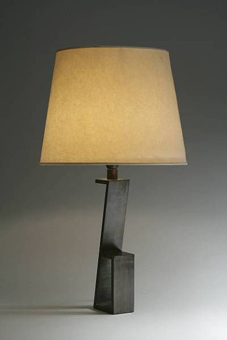 "Pair of French Mid-Century ""Z""  Table Lamps in Manner of Jacques Quinet 2"