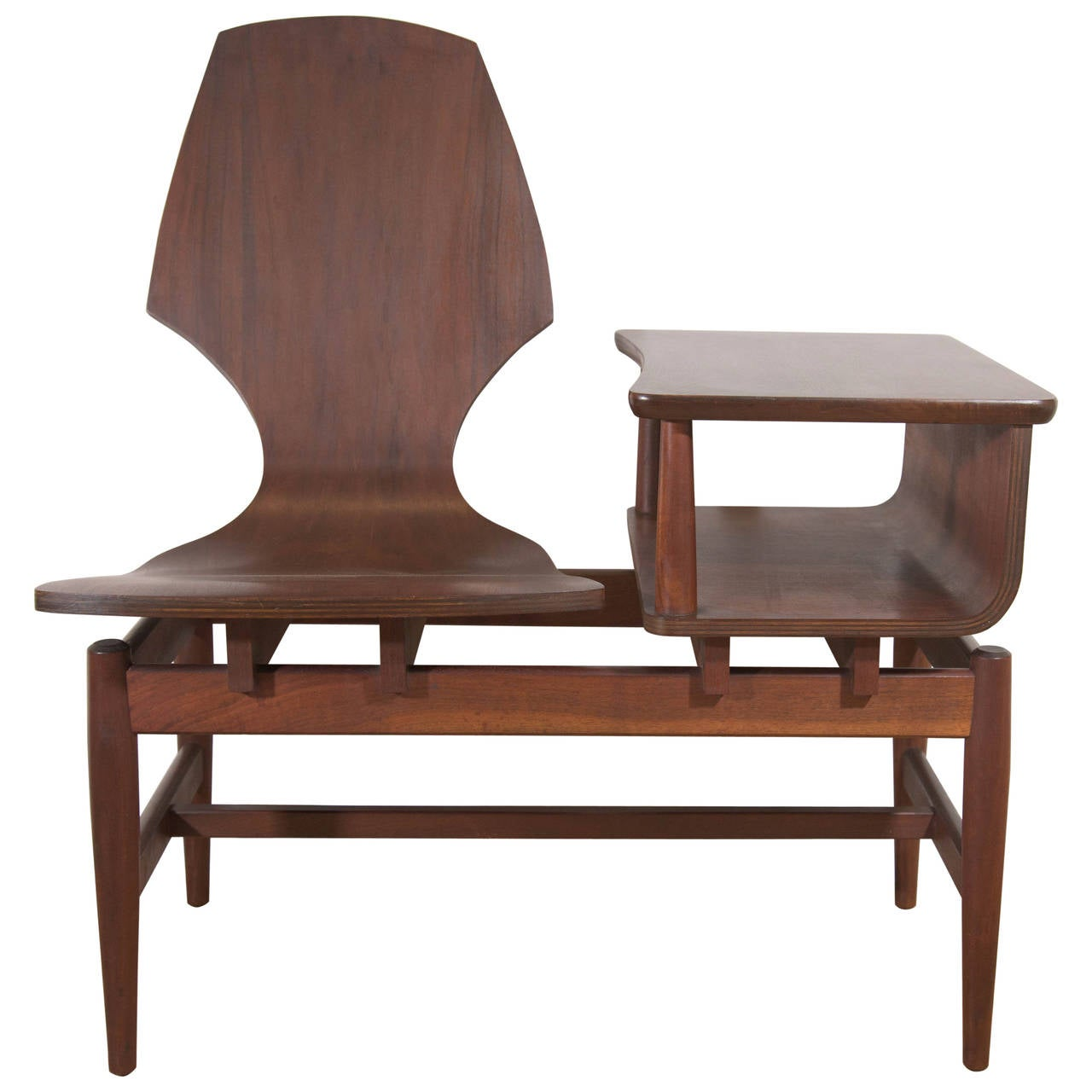 Midcentury scandinavian rosewood telephone table and side chair at 1stdibs - Scandinavian chair ...