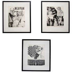 Set of Three Mid Century Framed Prints by William Weege