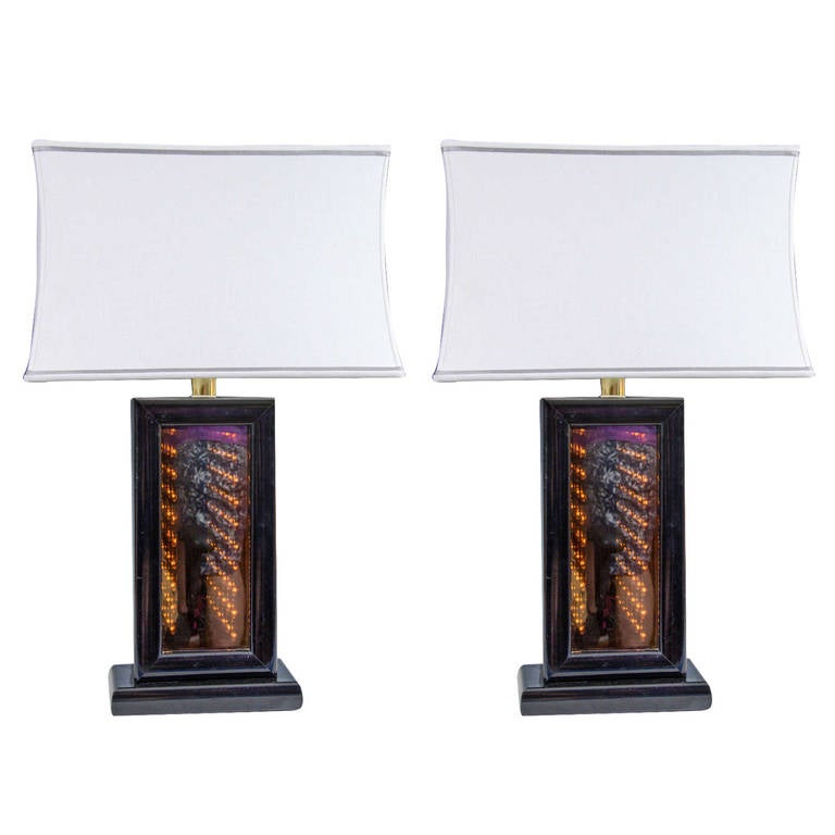 Bon Midcentury Pair Of Infinity Table Lamps