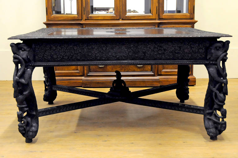 19th century anglo indian carved wood dining table at 1stdibs