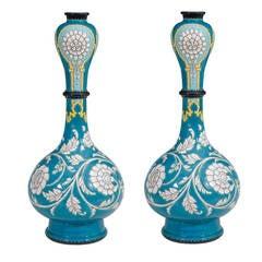 Clement Massier Pair of Art Nouveau Ceramic Vases