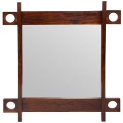 A Sergio Rodrigues 'Cuiaba' Wall Mirror with Jacaranda Wood Frame