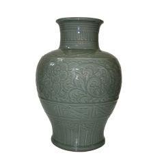 Monumental Japanese Celadon Vase