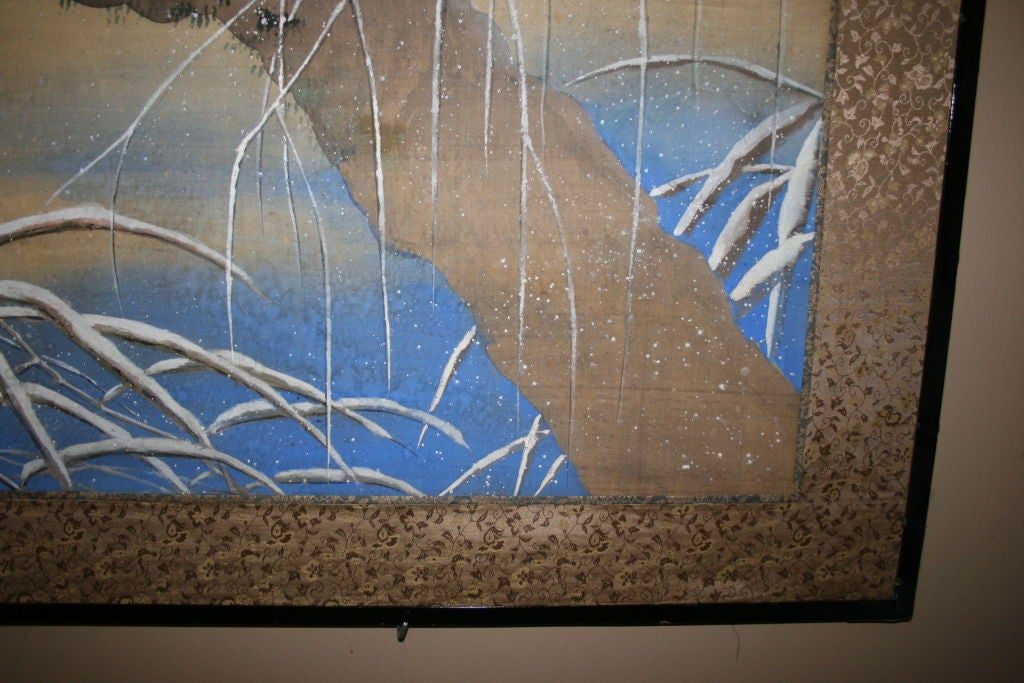19th Century Japanese Two-Panel Screen For Sale