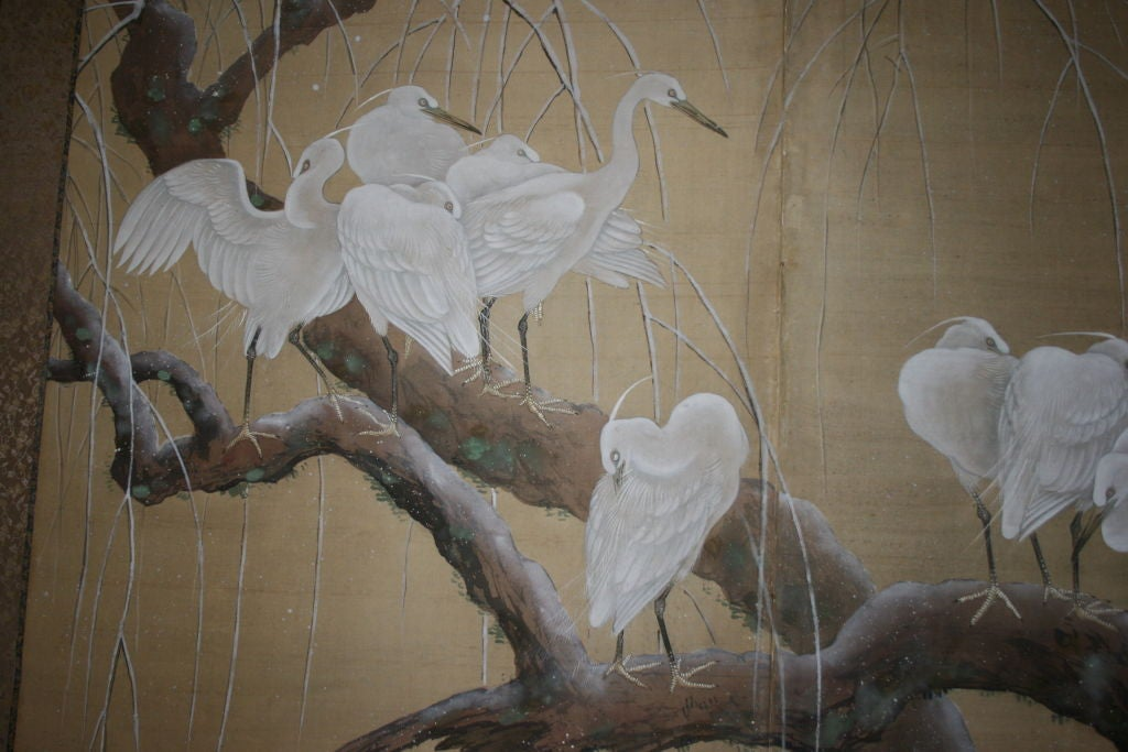 Japanese Two-Panel Screen For Sale 1