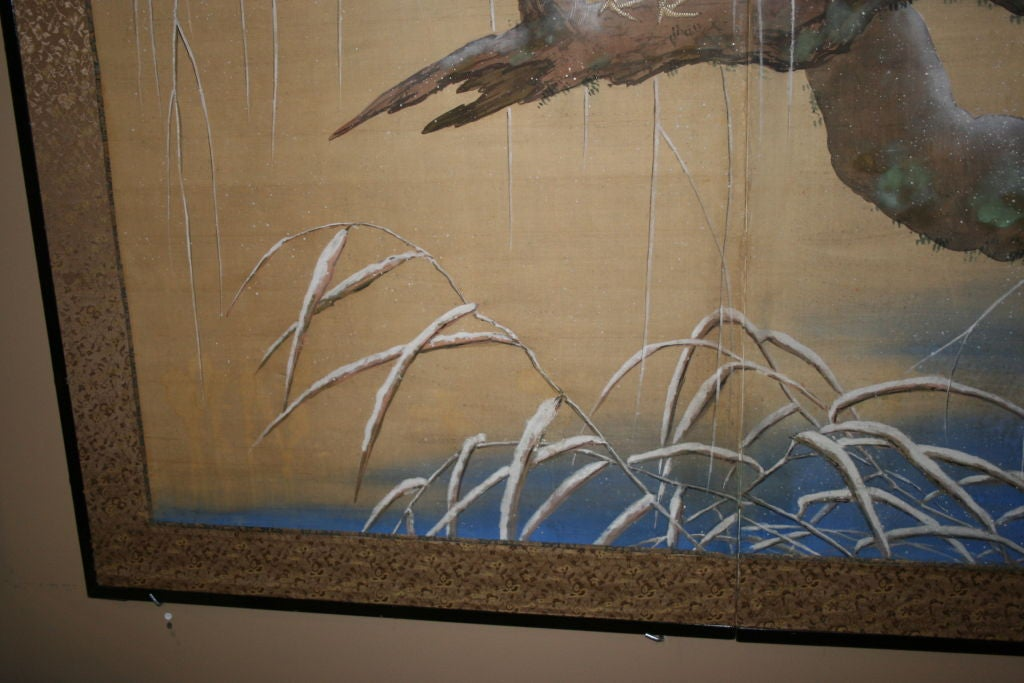 Japanese Two-Panel Screen For Sale 2