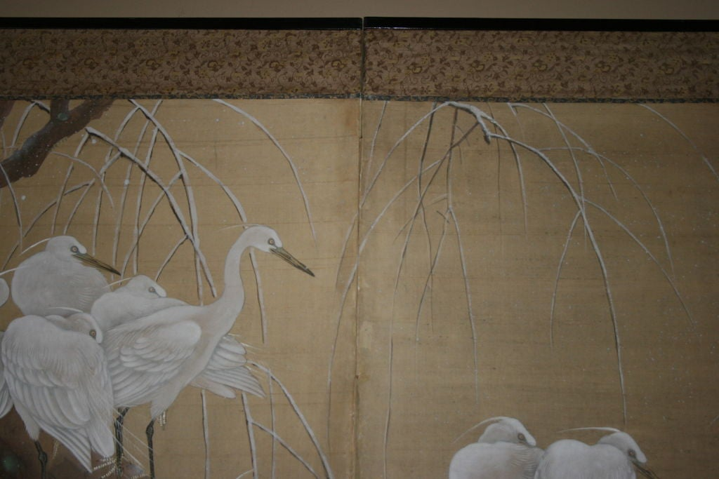 Japanese Two-Panel Screen For Sale 3