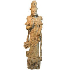 Chinese Song/Tang Dynasty Carving of Guanyin