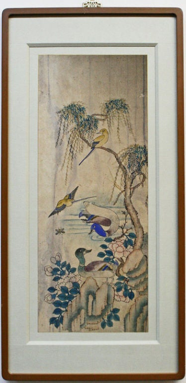 Set of Six Korean Traditional Bird and Flower Paintings 2