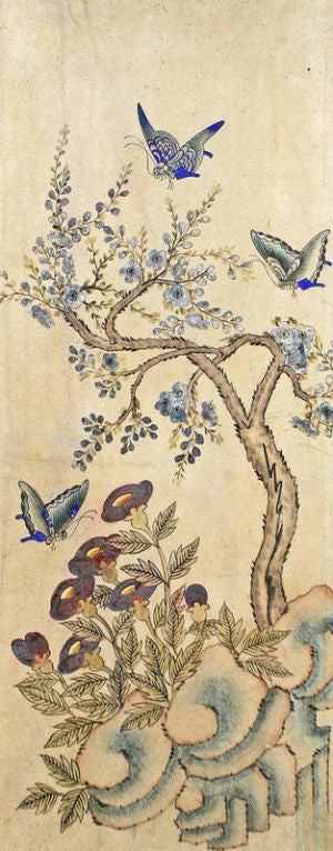 Set of Six Korean Traditional Bird and Flower Paintings image 3