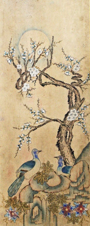Set of Six Korean Traditional Bird and Flower Paintings image 5