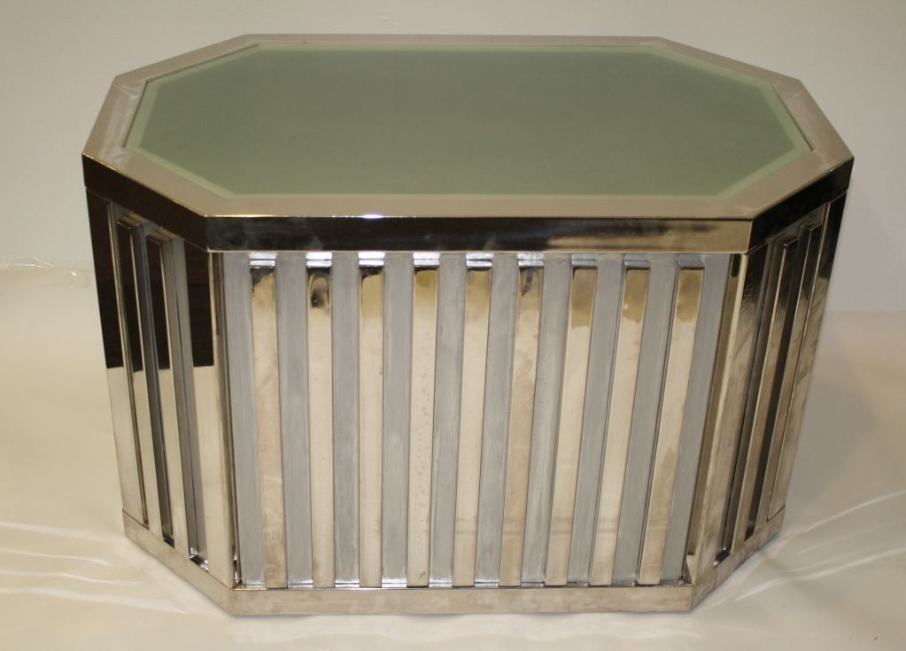 Chrome And Frosted Glass Coffee Table At 1stdibs