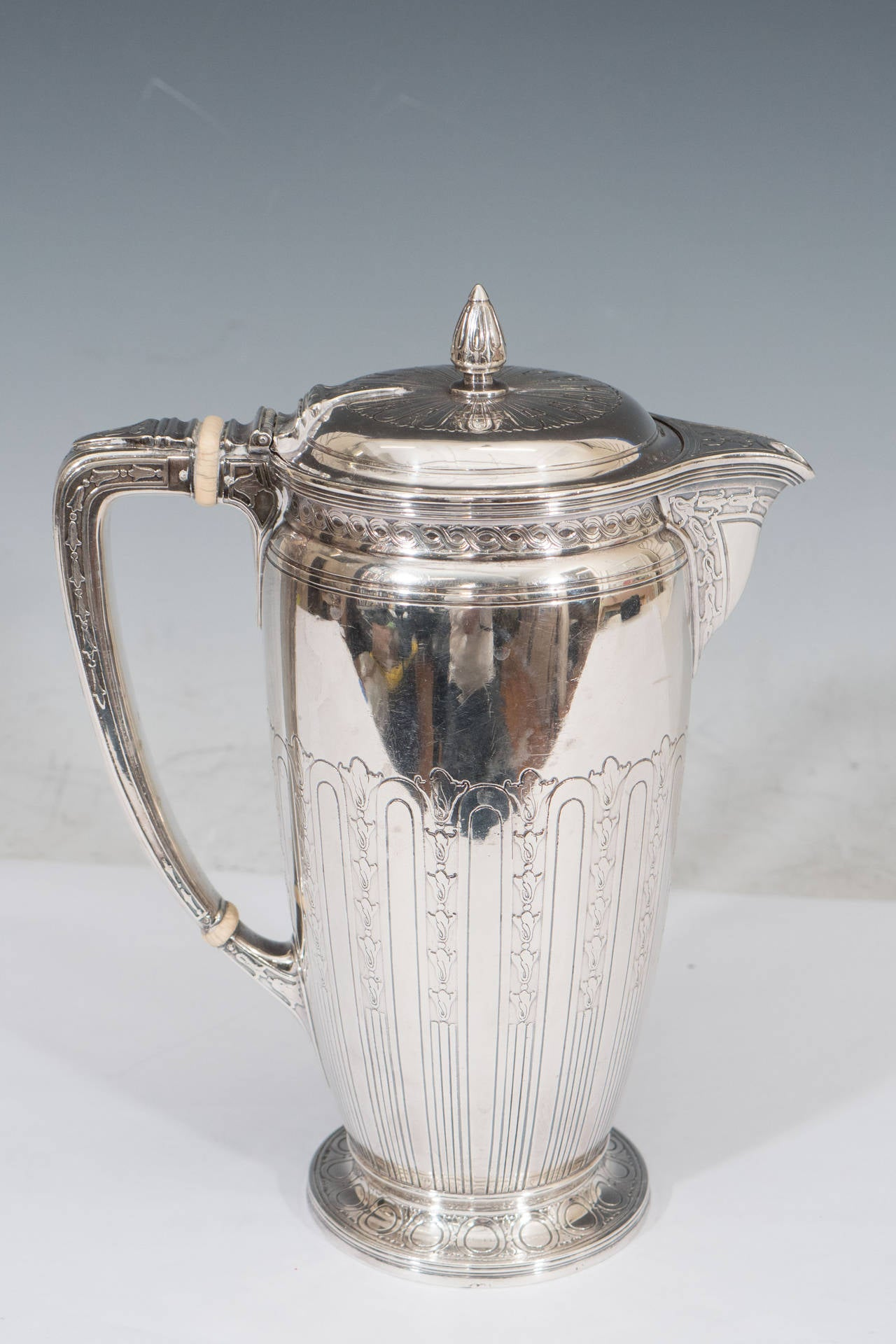 tiffany and co  sterling silver coffee pot or water pitcher at 1stdibs