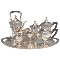 Eight-Piece Tiffany & Co. Makers Sterling Silver Complete Tea Set