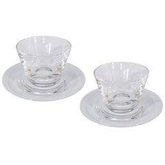 Set of 12 Steuben Glass Finger Bowls and Underplates