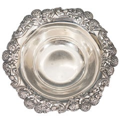 Sterling Silver Art Nouveau Tiffany & Co. Bowl with Shamrock and Thistle