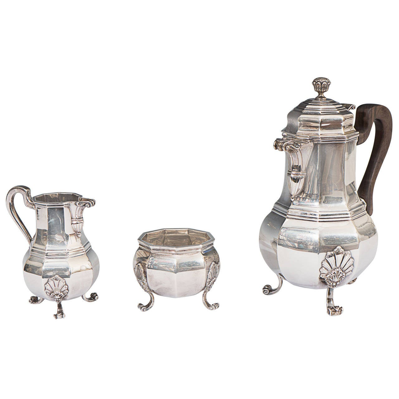 Tiffany & Co. Sterling Silver Three-Piece Tea Set