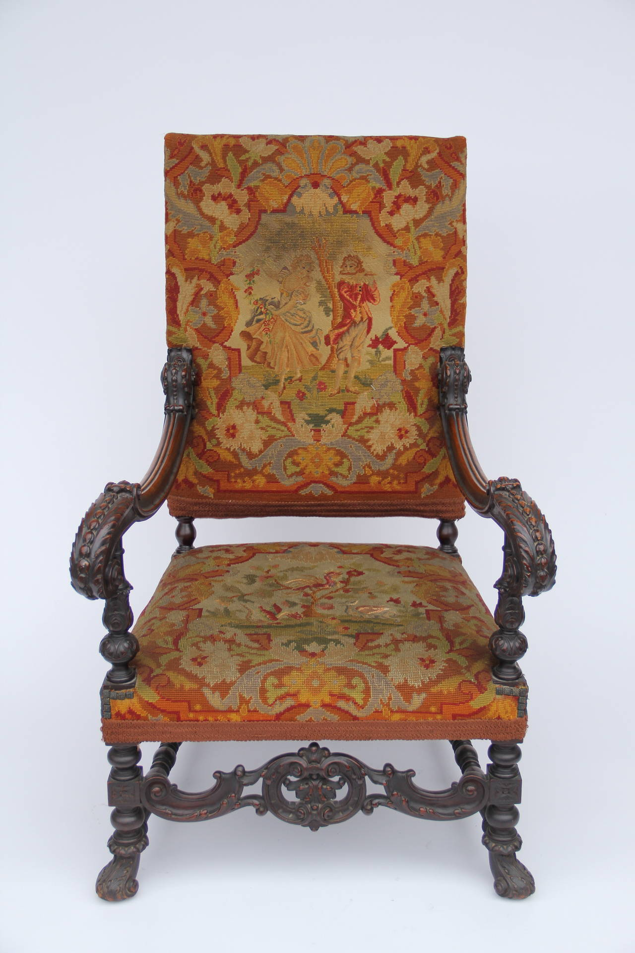 Antique louis xiv chair -