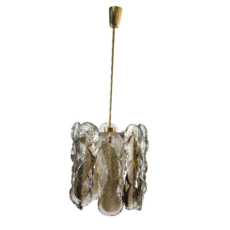 Hand Blown Glass Chandelier by J T Kalmar at 1stdibs
