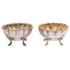 Antique Pair of Tiffany & Co. Sterling Silver Salts