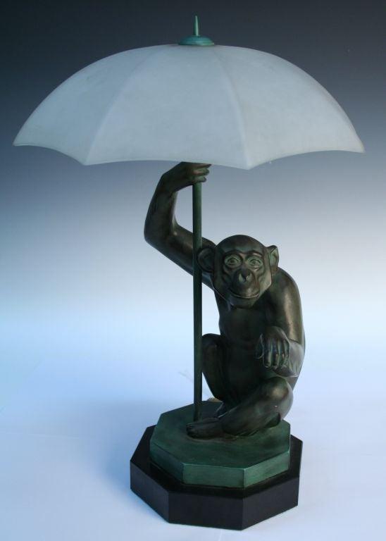 Quot Pluie Quot Monkey Lamp By Max Le Verrier At 1stdibs