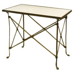 Vintage Brass Occasional Table with Granite Top