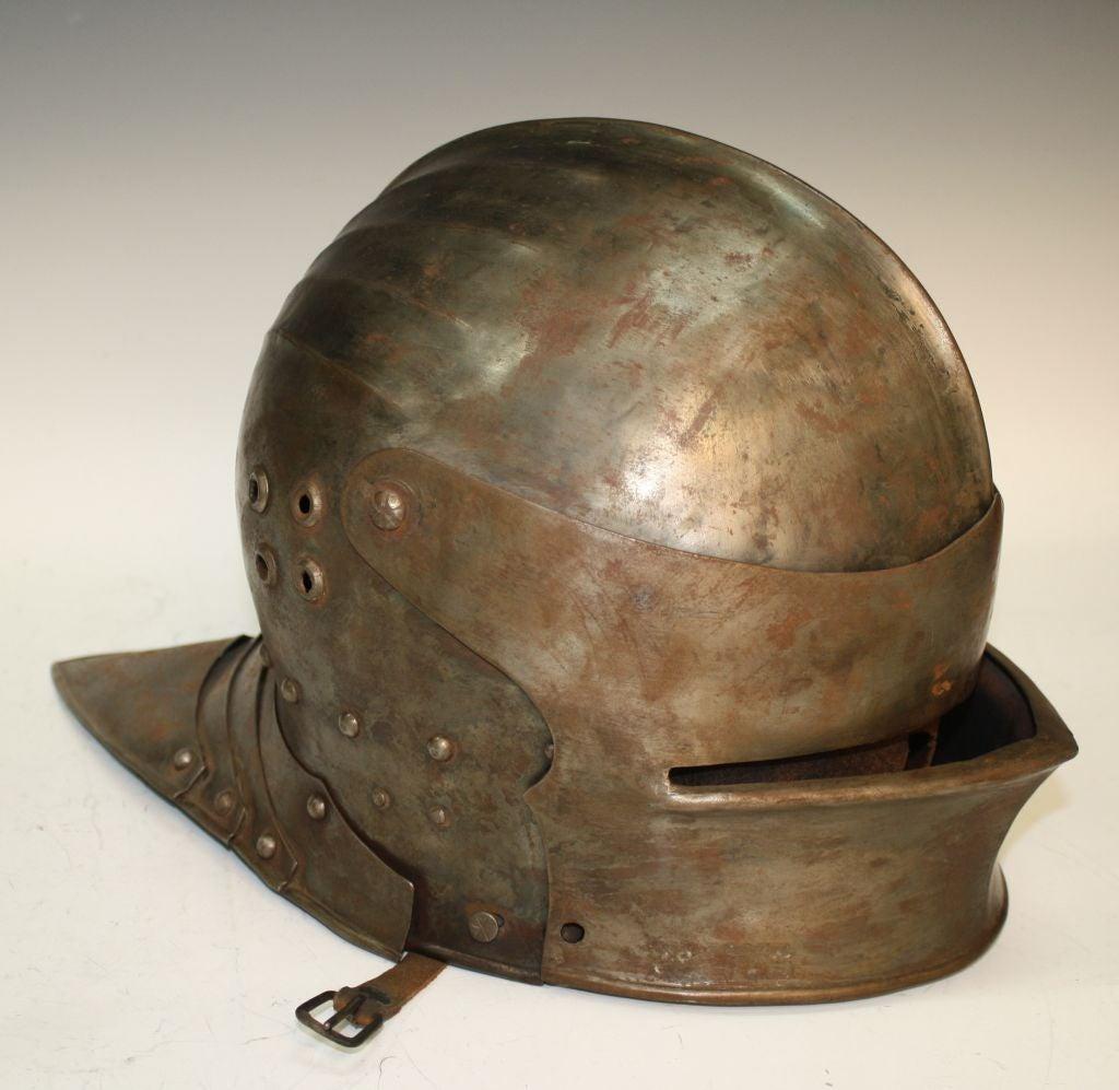 19th 20th Century Antique Italian Armor Steel Sallet