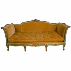 Vintage Louis XV Style Daybed / Sofa