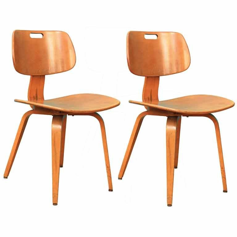 Six mid century chairs by thonet at 1stdibs Mid century chairs