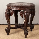 Anglo-Indian Rosewood Side Table with Elephant Trunk Legs image 3