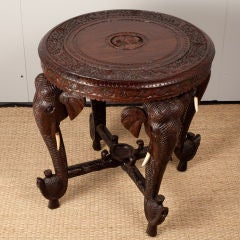 Anglo-Indian Rosewood Side Table with Elephant Trunk Legs image 2
