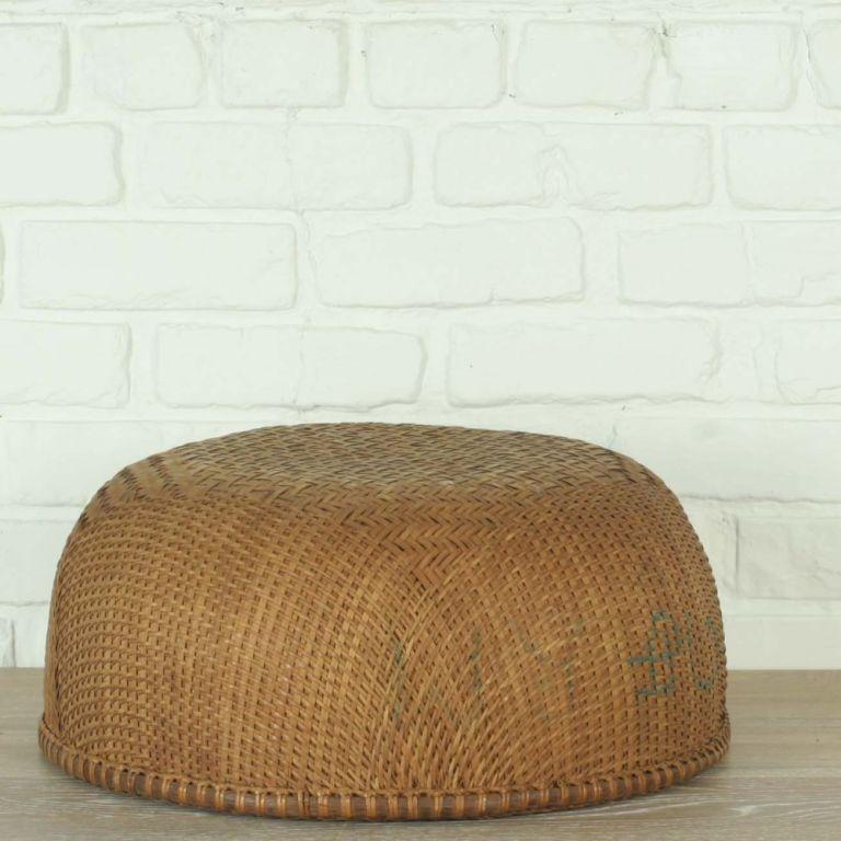 Woven Gathering Basket : Intricately woven rattan gathering basket from southern