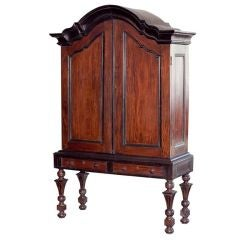 Rare Indo Dutch Armoire On Turned Legs At 1stdibs