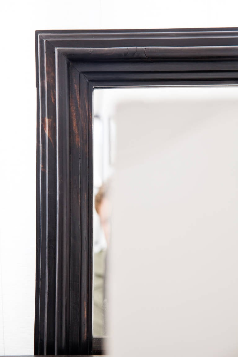 Dutch colonial full length ebony framed mirror at 1stdibs for Black full length wall mirror