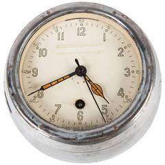 Midcentury Russian Aluminum Cast Ship Clock