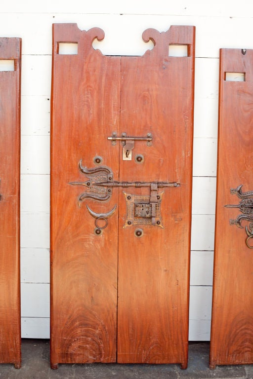 South indian solid wood doors with brass hardware for sale for Solid wood doors for sale