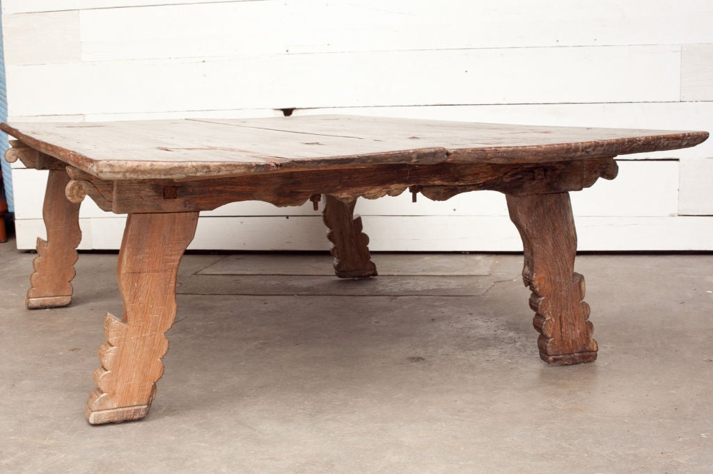 Very Large South Indian Wood Daybed Or Coffee Table For Sale At 1stdibs