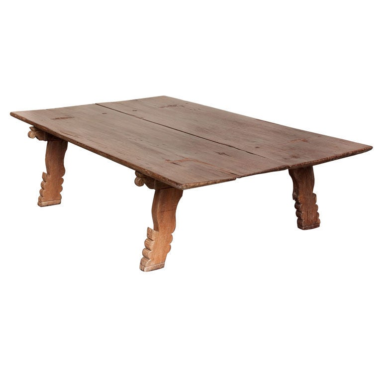 Very Large South Indian Wood Daybed Or Coffee Table At 1stdibs