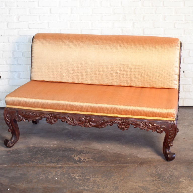 Anglo Indian Mahogany Sofa with Upholstery at 1stdibs : 889513072896842 from www.1stdibs.com size 768 x 768 jpeg 92kB
