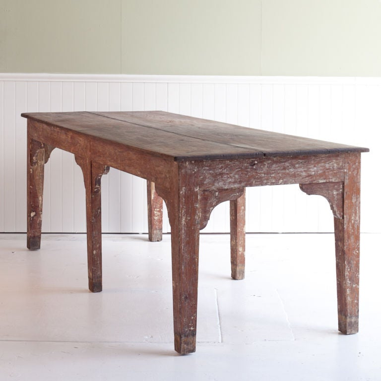 massive solid teak dining or work table from india at 1stdibs