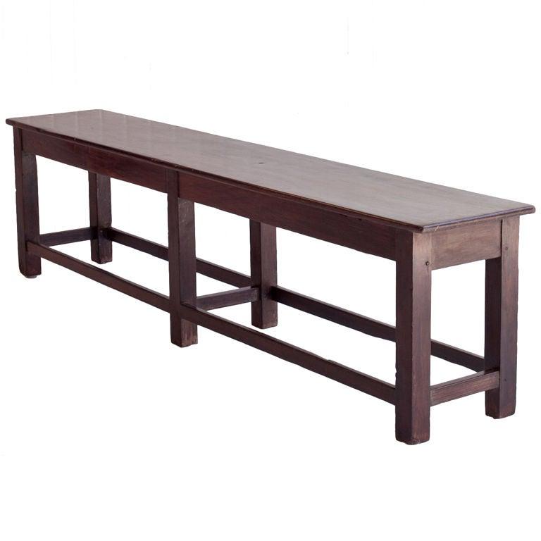 Narrow Solid Rosewood Bench At 1stdibs