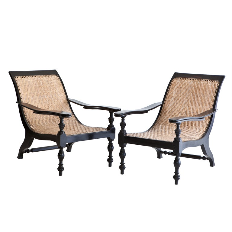 Anglo indian plantation chair in ebony at 1stdibs for Outdoor furniture india