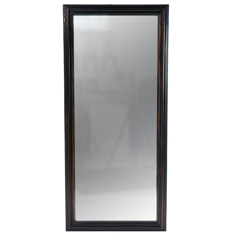 Dutch colonial full length ebony framed mirror at 1stdibs for Decorative full length wall mirrors