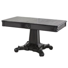 Anglo Indian Ebonized Center or Library Table